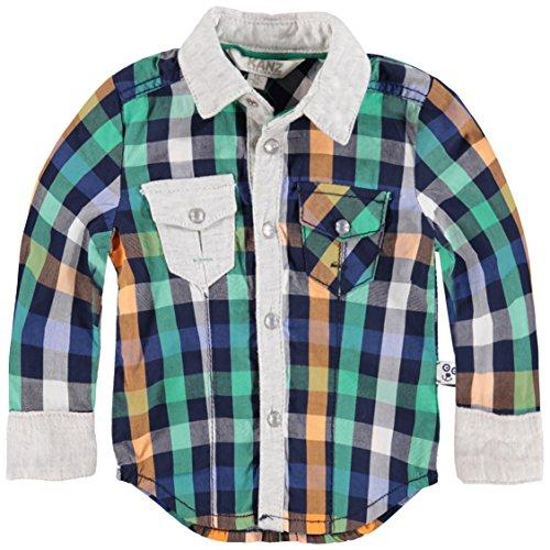 Kanz Kanz Baby-Jungen 1/1 Arm Hemd, Mehrfarbig (y/d Check|Multicolored 0002), (Herstellergröße: 74)