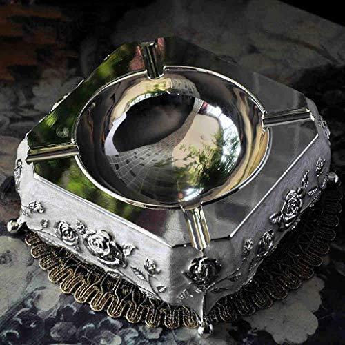 Preisvergleich Produktbild Nologo TIN-YAEN Aschenbecher Kreativ Kreative Hause Becher Aschenbecher Dekoration Geschenk der europäischen Charakter der Zigarre Zylinder Retro Metall-Handwerk