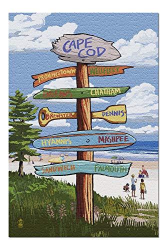 Goodckn Puzzles für Erwachsene Kinder, Cape Cod, Massachusetts - Ziel Wegweiser 1000 Stück Puzzle