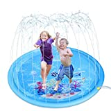 SENYANG Sprinkler for Kids - 68' Inflatable Splash Pad Outside Play Mat Summer Water Toys, Outdoor Wading Swimming Pool, Outside Water Play Mat for Babies and Toddlers (Blue)