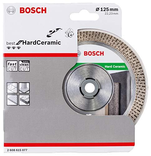 Bosch Professional Diamanttrennscheibe Best für Hard Ceramic (Fliesen, 125 x 22,23 mm, Zubehör Winkelschleifer)