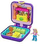 Polly Pocket Mini-Coffret Univers violet Polly au marché avec mini-figurine, surprises et accessoires, jouet enfant, édition 2020, GKJ40