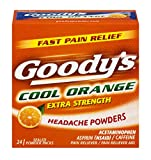 Goody's Extra Strength Powders   Cool Orange   Aspirin & Caffeine   24 Count