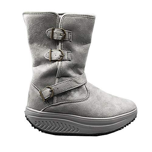 Aktiv-Schuhe für Damen, zur Gesäß-Straffung für Wohlbefinden, Sport, Fitness, mit abgerundeter Sohle, Grau - GRIGIO STIVALETTO - Größe: 35 EU