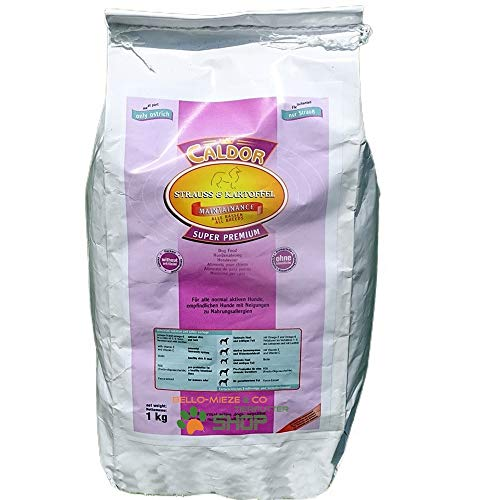 Caldor Maintenance Strauß Kartoffel   12 kg Sack   getreidefreies Hunde Trockenfutter   Hundefutter ohne Getreide