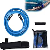 Cinturones Nadador Cuerda Elástica para Entrenamiento Piscina Ejercitador Correa Nadar Bungee Cinturón Natación Exteriores Cómodo de Secado Rápido para Principiantes Entrenadores Natación Avanzados