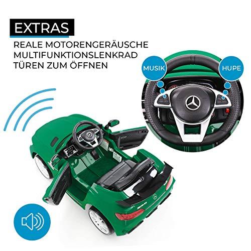 RC Auto kaufen Kinderauto Bild 6: Actionbikes Motors Kinder Elektroauto Mercedes Amg GT-R - lizenziert – 2 x 25 Watt Motor – Ledersitz - Eva Reifen – Softstart - Kinderauto (Rot)*