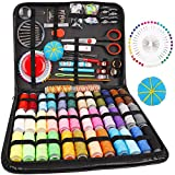 Sewing Kit,184 Pcs Premium Large Sewing Supplies with PU Case,38 XL Thread Spools,Scissors,Thimble,Threader,Needle,Suitable for Traveller,Adults,Kids,Beginner,Emergency,DIY and Home Button Repair Kit