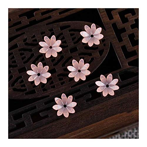 JINAN 50pcs/lot 9mm Resin Flower Beads Hair Clip Hairpinmaking Handmade Accessories Material Loose Beads With Hole (Color : Light orange)