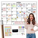 Large Dry Erase Wall Calendar - 24'x 36' Undated Monthly Planner for Home, Office, Classroom - Reusable Laminated Task Organizer