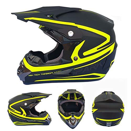 ZUCAI Casco integral Mtb para adulto, con gafas de motocross y guantes de máscara, el mejor regalo para motociclistas, el compañero de viaje ideal incluso para viajes largos en motocicleta, L