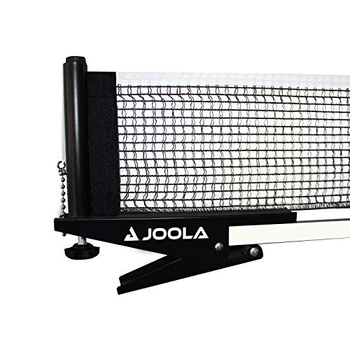 JOOLA Premium Inside Table Tennis Net and Post Set - Portable and Easy Setup 72' Regulation Size Ping Pong Spring Clamp Net, Black