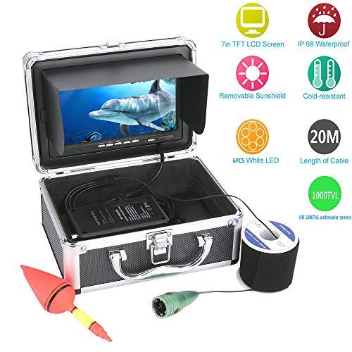 STHfficial visvinder, draagbaar, 20 meter, draadloos, WiFi, onderwatercamera, aluminiumlegering, waterdicht, HD fishfinder