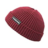 Croogo ビーニー帽 イスラム帽 ニット帽 メンズ 大きめ カプッチョリッド 無地 秋 冬 ショートキャップ サマーニット帽 メンズ(レッド)