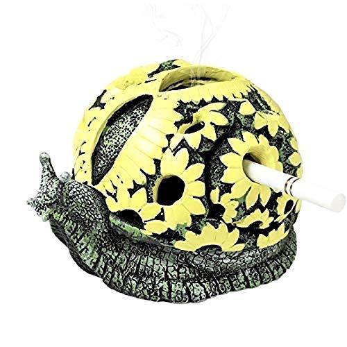 Oaisij Cenicero de Animales Tortuga de Dibujos Animados Cenicero de Caracol Tortuga Adornos artesanales 1 Juego