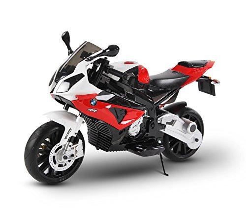Moto elettrica ROSSA LT832 per bambini BMW sedile in pelle accensione con chiave. MEDIA WAVE store ®