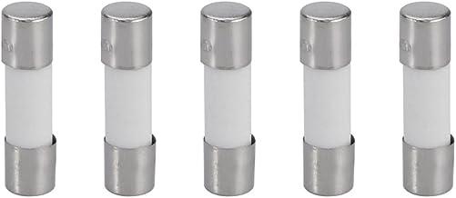 fusion rapide bas puissance coupure fusible Tube verre 6.3A 250V sourcingmap/® 20pcs 6x30mm