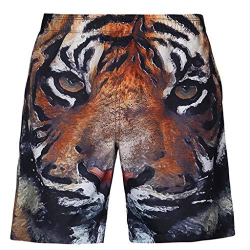 GK-NANA Pantalones Cortos/Tigres Digitales Divertidos con Estampado De
