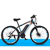Yd&h 26'' Electric Mountain Bike, Electric Bicycle All Terrain with Removable Large Capacity Lithium-Ion Battery (36V 8AH 250W), 21 Speed Gear And Three Working Modes,C