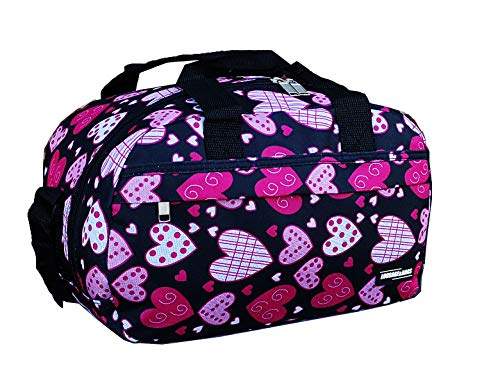 Ryanair Small Second Hand Luggage Travel Cabin Shoulder Flight Bag Fits 40x20x25 (Hearts)