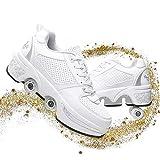 Chaussures À Skates avec Roues Baskets Mode Coloré Chaussures À roulettes Sneakers Roller pour Garçon Fille