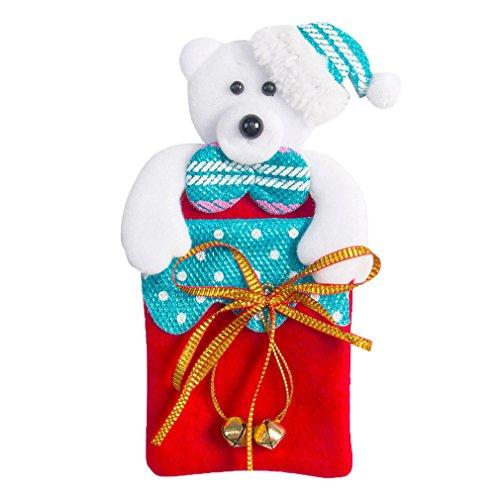 COMVIP Weihnachten Dekor Tasche Weihnachtensbaum Anhänger Schmuck für Bonbons Kekse Bär