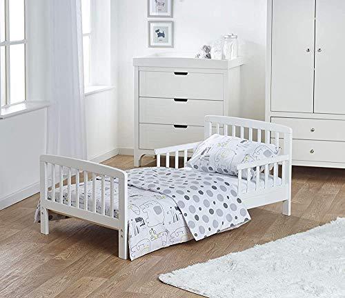 Simple y elegante de madera maciza de pino - liado camas para niños pequeños y las cunas, colchones y cunas,White