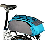 LightInTheBox® impermeabile multi funzione escursione ciclismo bicicletta borsa posteriore sedile tronco bagagli pacchetto rack cestini con copertura antipioggia, Black