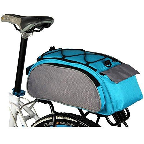 LightInTheBox, wasserdichte Multifunktions-Fahrrad-Packtaschen mit regensicherer Abdeckung, für den Fahrradgepäckträger hinten, S041413000003#EUB, Schwarz