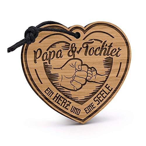 Bester der welt Fashionalarm Daddy Daughter Keychain – Graviertes Holzherz & Seele der Vereinten Nationen |…