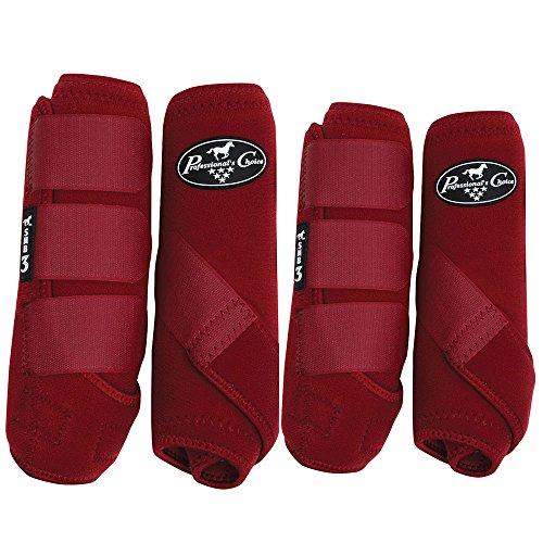 Professionals Choice Equine Sports Medicine Boot Value Pack, Set of 4 (Medium, Crimson Red)