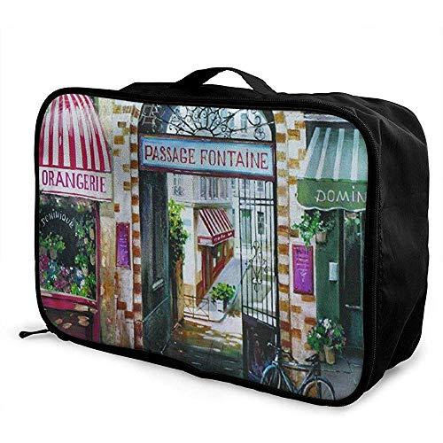 Verpakking kubussen Travel Bagage Bag Ontvang Opslag Organizer Grote Draagbare Set met Handvat Cafe Paard