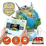 Oregon Scientific, Smart Globe Adventure SG268RX, SmartGlobe interattivo con Smart Pen e realtà aumentata 3D, mappamondo educativo interattivo, certificato STEM