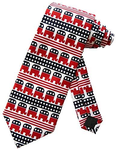 Krawatte Parkett Mens Republican Elephant Political Krawatte White Neck Tie Krawatte Krawatten Silk Neckwear,Lang 145Cm