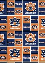 Auburn University Fat Quarter-NCAA Collegiate 100/% Cotton Flannel Fat Quarter