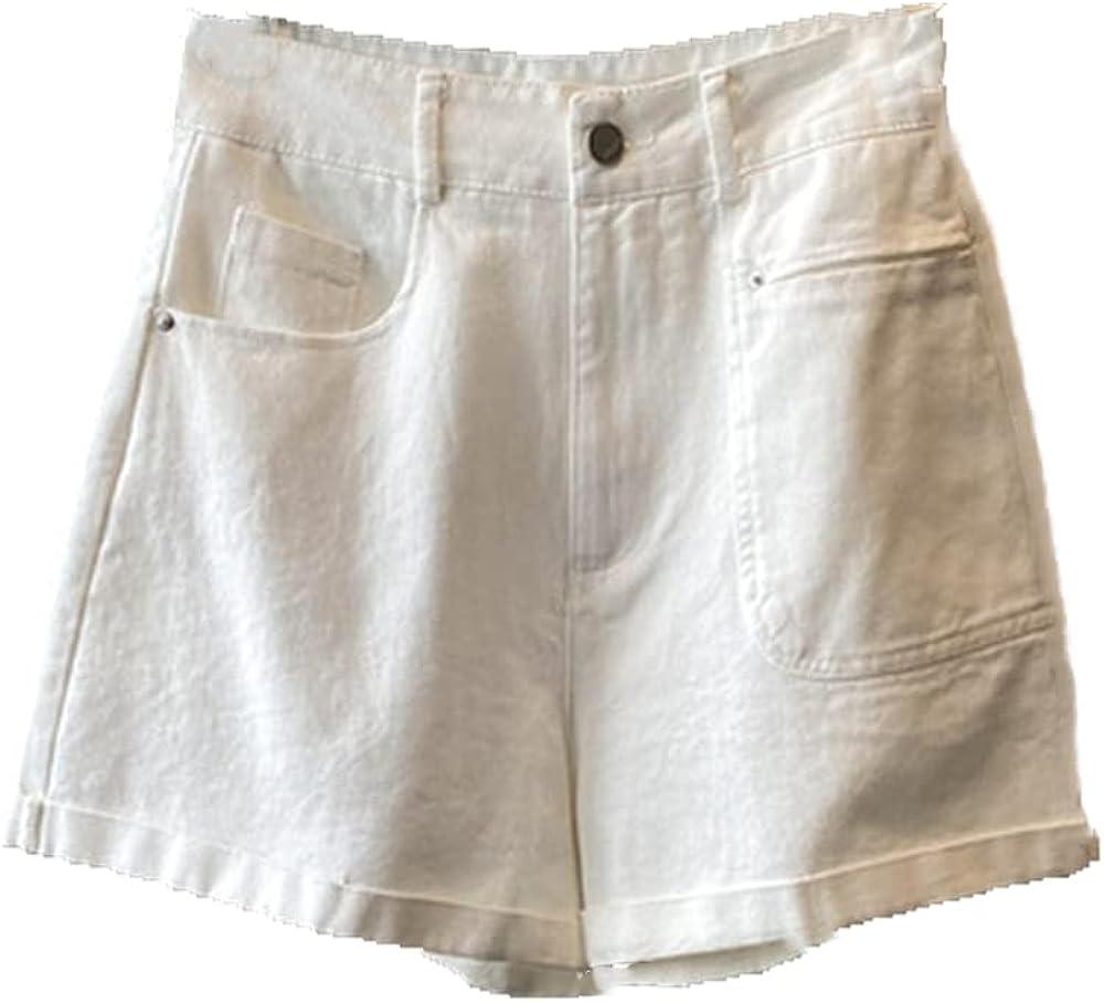 NP Green Denim Shorts for Womens Summer Casual Loose Waist Short Women's