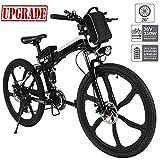 Hiriyt Faltbares E-Bike,36V 250W Elektrofahrräder, 8A Lithium Batterie Mountainbike,26 Zoll Große Kapazität Pedelec mit Lithium-Akku und Ladegerät (Upgrade_Faltbar_Schwarz)