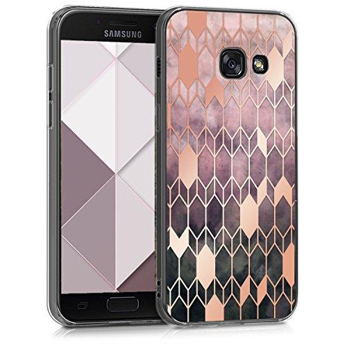 kwmobile Hülle kompatibel mit Samsung Galaxy A3 (2017) - Hülle Handy - Handyhülle Glory Pink Rosegold