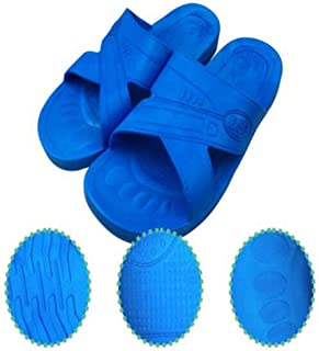 Kinglight Anti-Static Slippers Men and Women Clean Working Safety Shoes Soft Bottom Shoes for Dust-Free Electronics Factory (9.5, Blue)