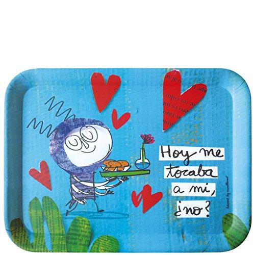 LAROOM 13948 – dienblad tafel vandaag ik bij mijn fluitenspel, niet?, turquoise