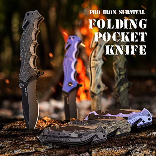 Pro Iron Assisted Opening Survival Knife