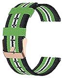 Wensong Orologio Intelligente del Braccialetto del Braccialetto del Tessuto del Tessuto di Nylon della Banda Leggera (Color : Green)
