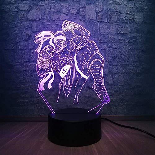 Luz de noche 3D LED ilusión mesa de escritorio lámpara de noche 7 colores que cambian la decoración del hogar juguetes para niños