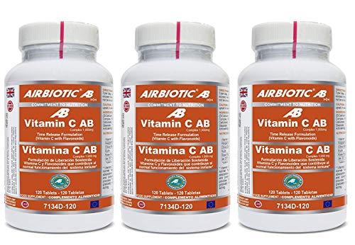 Vitamina C AB Complex 1000 mg. 120 tabletas (Pack 3 u.)