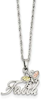 925 Sterling Silver 12k Butterfly Faith Chain Necklace Pendant Charm Animals/insect Fine Jewelry For Women