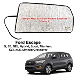 YelloPro Auto Side Window Rear Seat Sunshade Custom Fit for 2013 2014 2015 2016 2017 2018 2019 Ford Escape S, SE, SEL, Hybrid, Sport, Titanium, XLT, XLS, Limited Crossover (Set of 2) -Made in USA