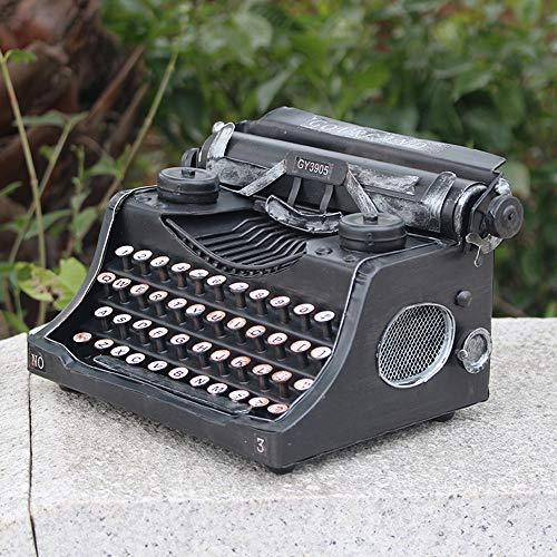 MQW Máquina De Escribir Antigua Ruta del Hierro Modelo Retro De La Fotografía Bar Escaparate Software Instalado Decoración 25 * 14 * 18cm Delicada Hermosa
