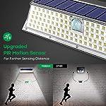 VOSONX Solar Lights Outdoor - 126 LEDs Solar Powered Security Lights, Wireless Light Sensor & Motion Sensor Light, IP65 Waterproof Outdoor Wall Lights with 270° Wide Angle for Front Door, Garage, Yard Upgraded Motion Sensor