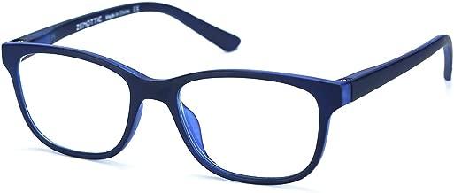 ZENOTTIC Kids Blue Light Blocking Glasses Anti Glare Lens Lightweight Frame Computer Eyeglasses for Boys and Girls (Blue)