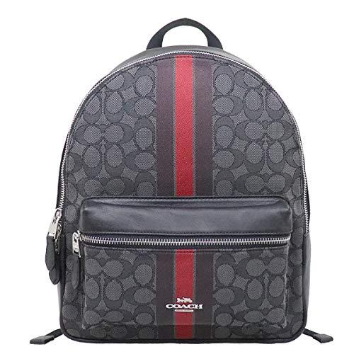 [コーチ] COACH バッグ(リュック) F68034 レッドマルチ チャーリー アウトライン シグネチャー ジャガード ストライプ ミディアム バックパック レディース [アウトレット品] [ブランド] [並行輸入品]